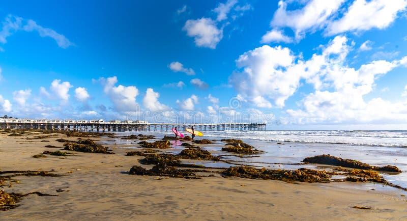 和平的海滩码头 库存图片