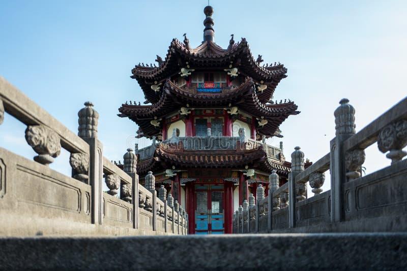 和平的Memorialpark塔在台北,台湾 库存图片