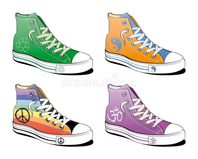 和平穿上鞋子符号 图库摄影