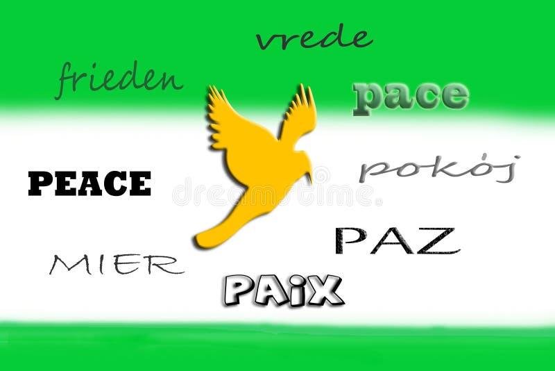 和平语言  库存照片