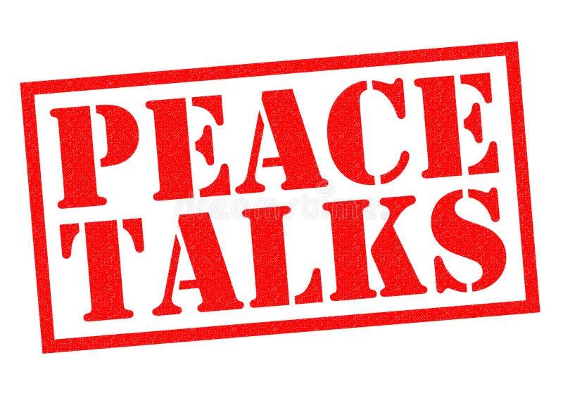 和平谈判 免版税库存图片
