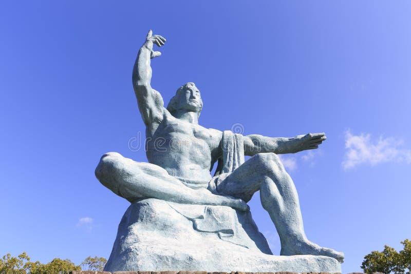 和平雕象前面看法  库存照片