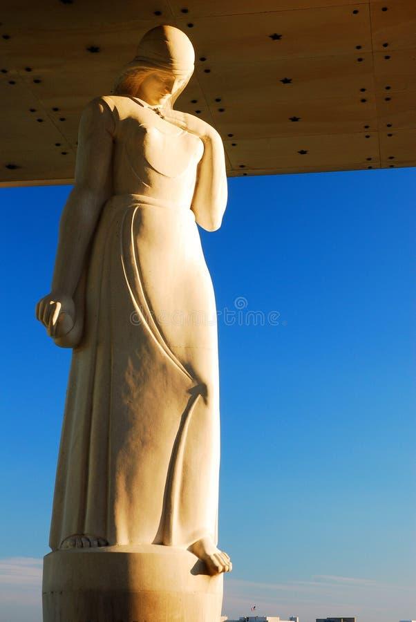 和平雕象 库存照片
