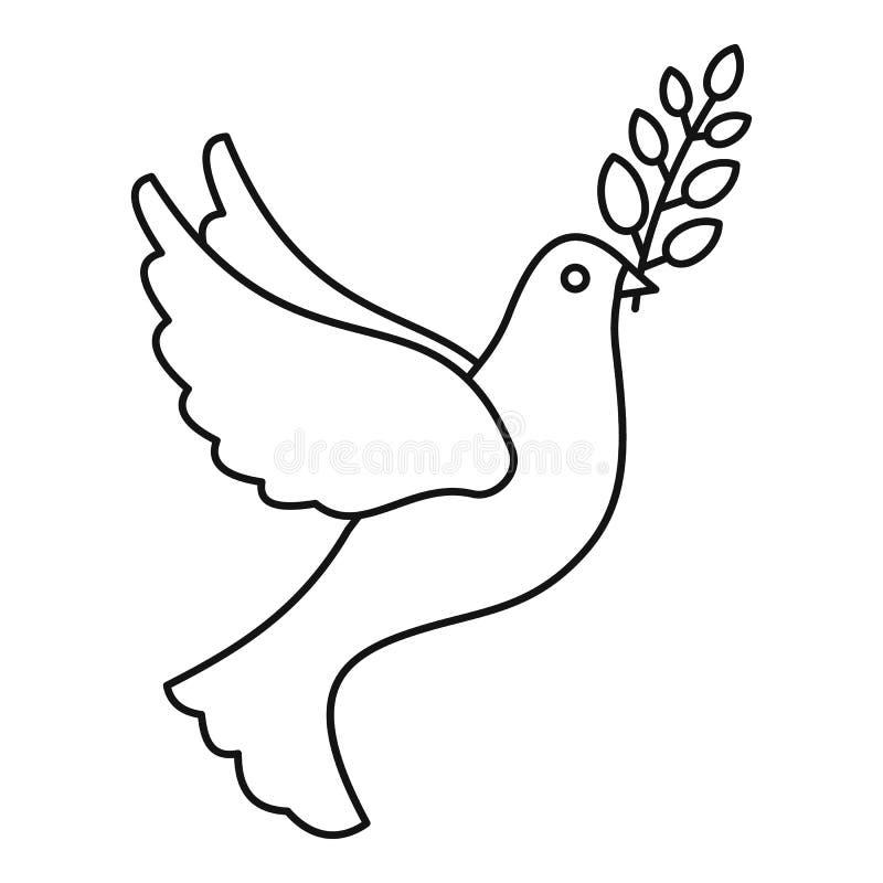 和平鸽子象,概述样式 库存例证