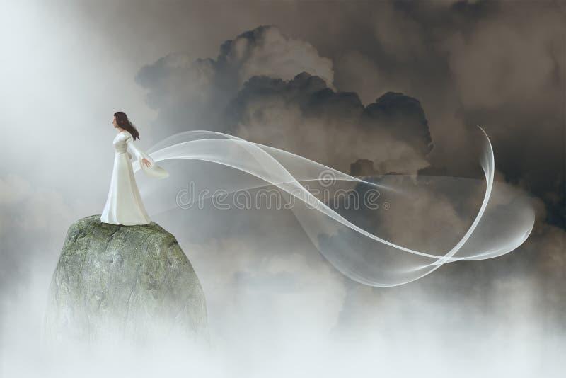 和平,希望,自然,秀丽,爱 库存例证