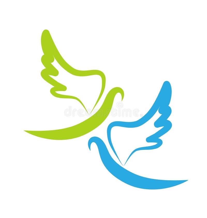 和平,象传染媒介鸠  向量例证
