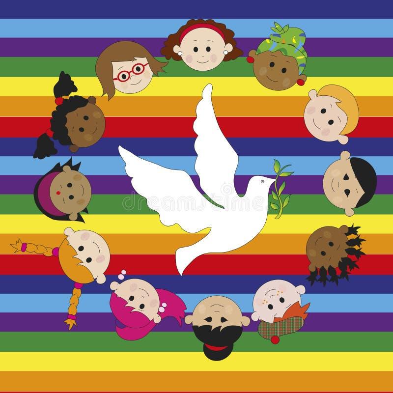 和平 向量例证
