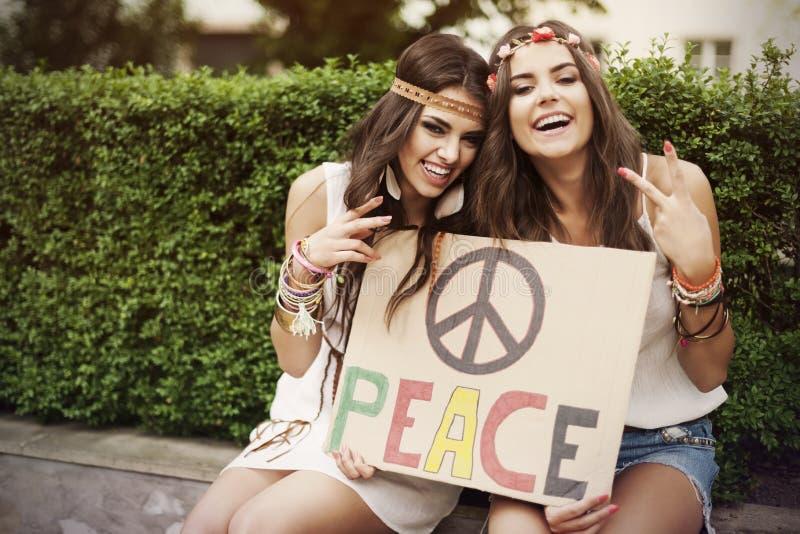 和平! 图库摄影