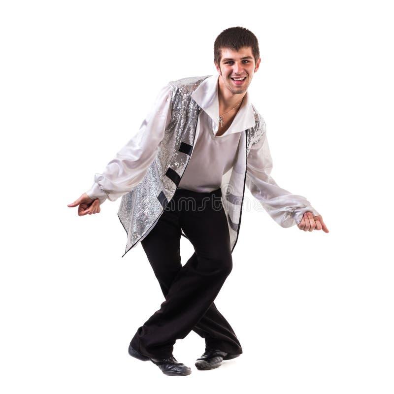 年轻和时髦的现代跳芭蕾舞者,被隔绝 免版税库存照片