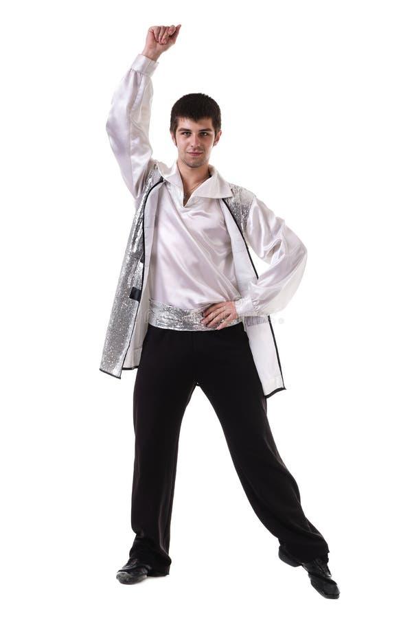 年轻和时髦的现代跳芭蕾舞者,被隔绝 库存照片