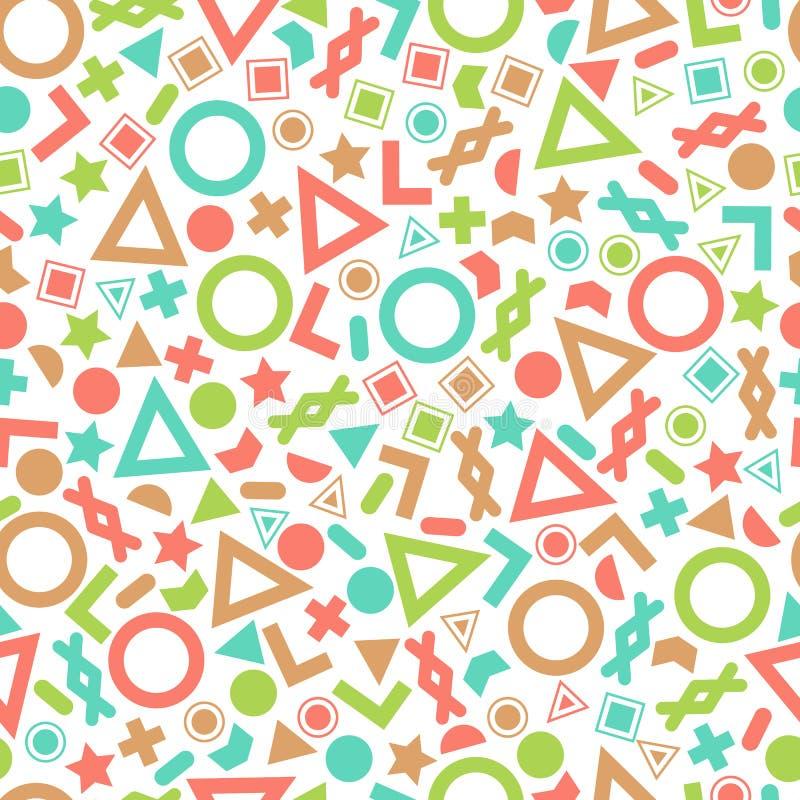 组织和明信片的无缝的原始几何样式 库存例证