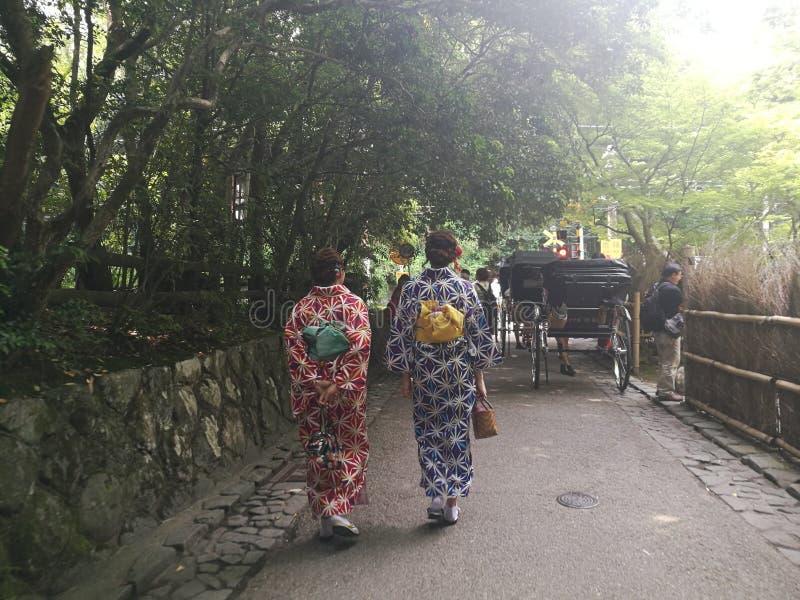 和服妇女日本 库存照片