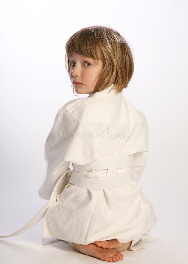 和服的空手道女孩, 免版税库存照片