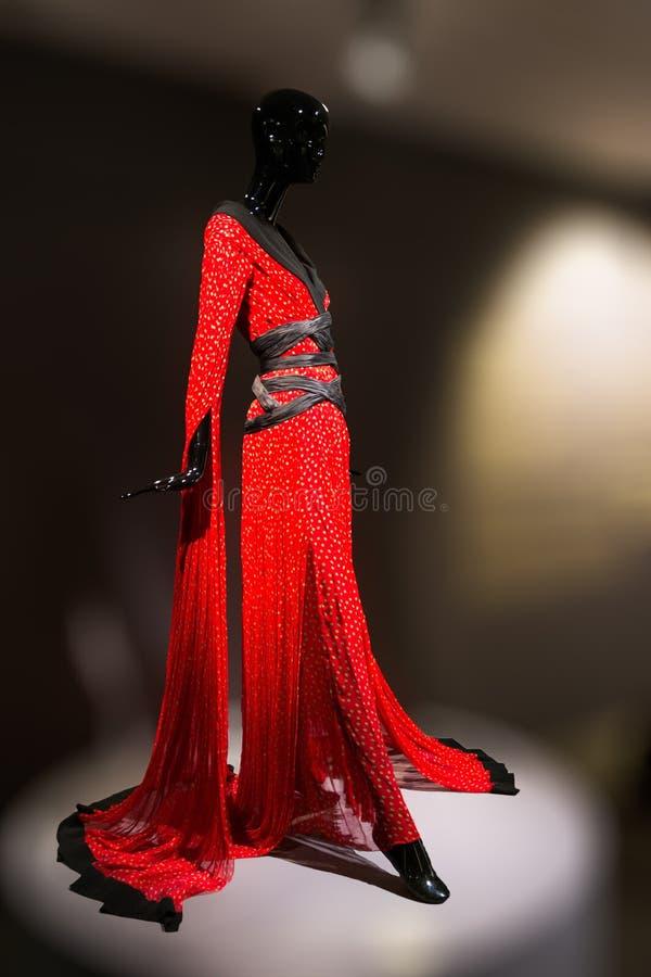 和服,陈列Musée Guimet巴黎 免版税图库摄影