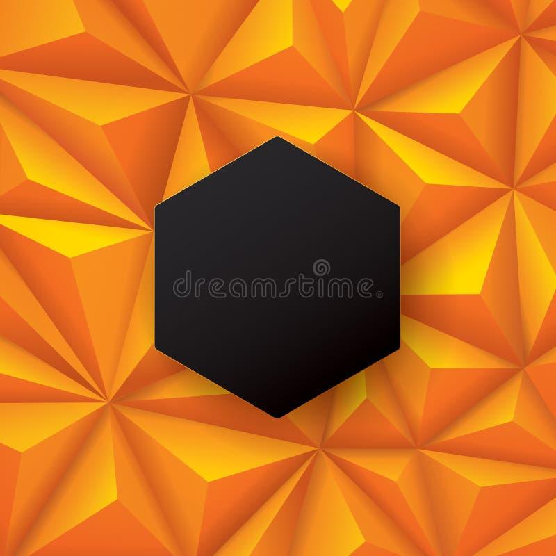 黑和橙色抽象背景传染媒介 皇族释放例证