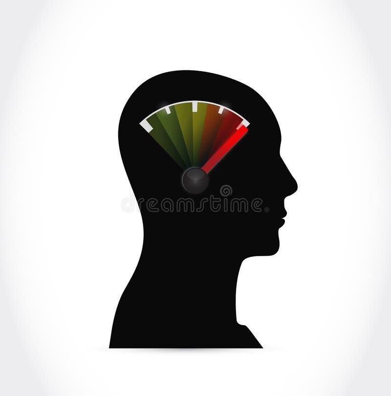 头和汽油箱例证设计 向量例证