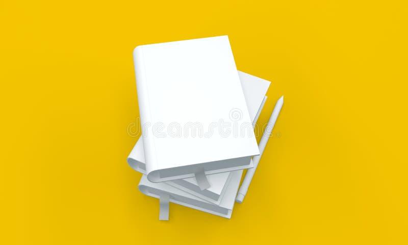 和白皮书和笔空白的大模型 向量例证