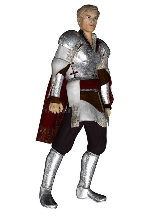 和蔼白肤金发的骑士 皇族释放例证