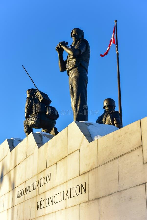 和解:维持和平纪念碑-渥太华,加拿大 库存图片