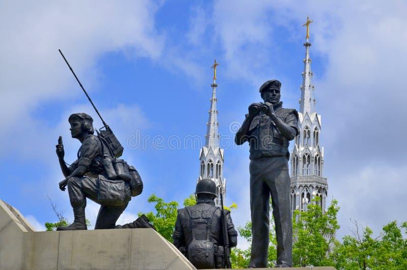 和解维持和平纪念碑 库存图片