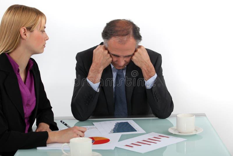 主任和雇员 免版税库存照片