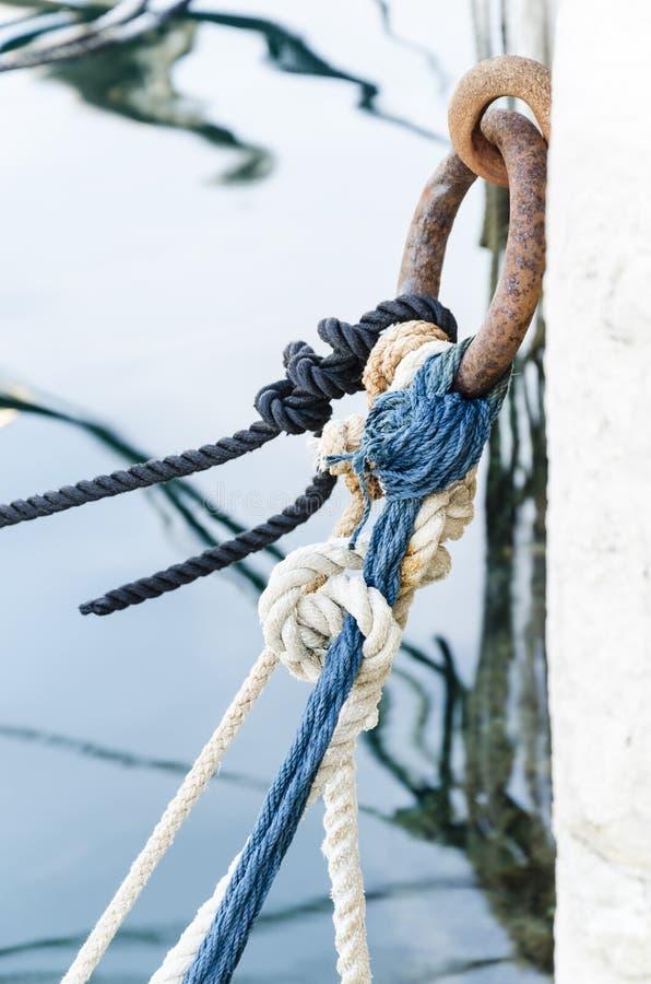 结和绳索 库存图片