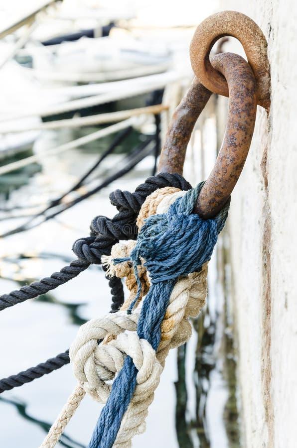 结和绳索 免版税库存照片