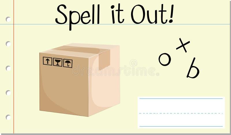 咒语英语单词箱子 向量例证