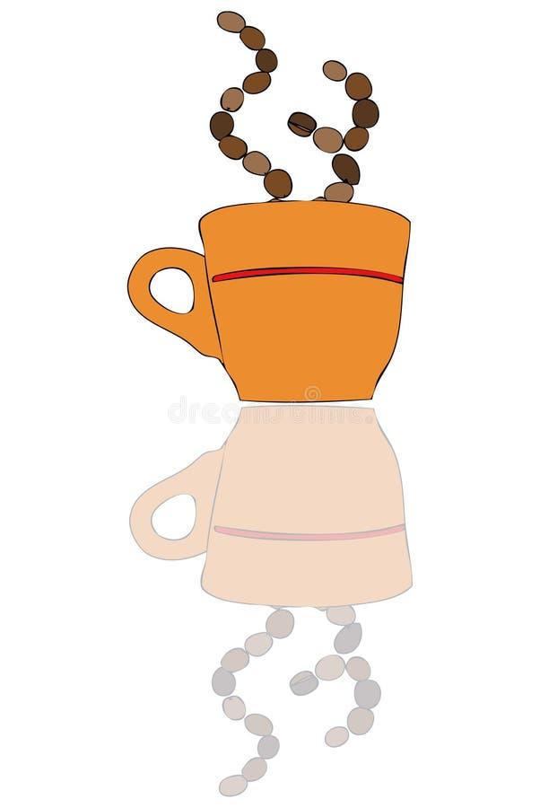 咖啡与反映的 皇族释放例证