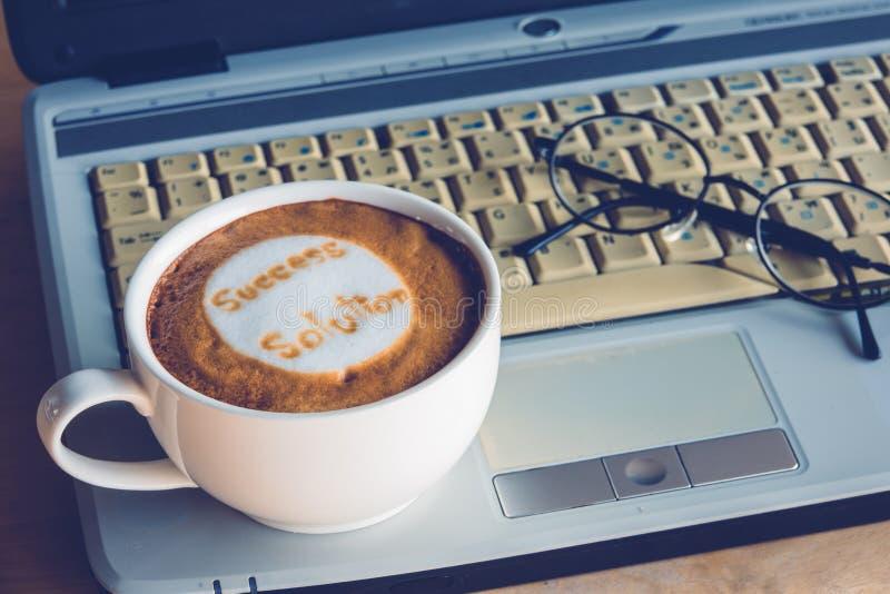 咖啡事务 免版税图库摄影