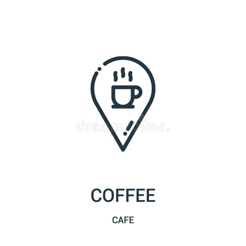 咖啡从咖啡馆汇集的象传染媒介 稀薄的线咖啡概述象传染媒介例证 r 皇族释放例证
