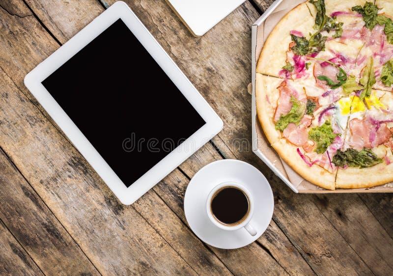 咖啡休息背景 免版税库存图片