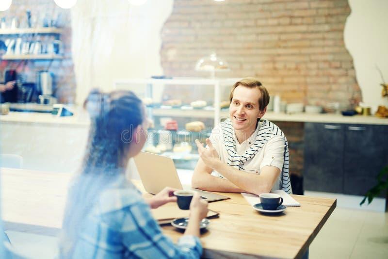 咖啡会议界面 免版税库存照片