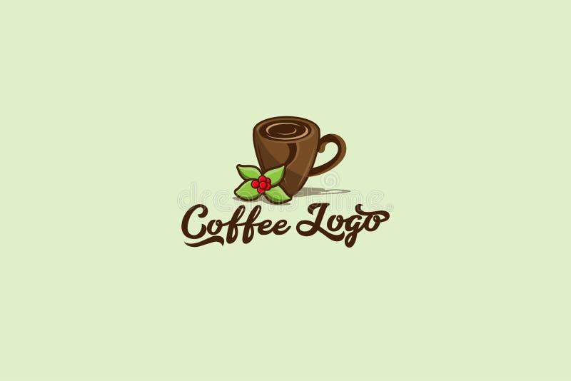 咖啡传染媒介商标EPS 10 库存例证
