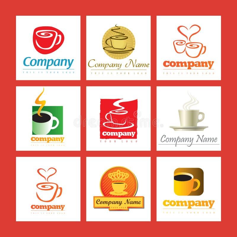 咖啡公司徽标 库存例证