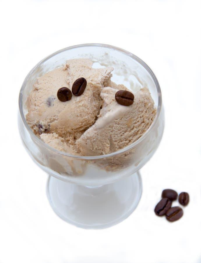咖啡冰淇凌从上面 库存照片