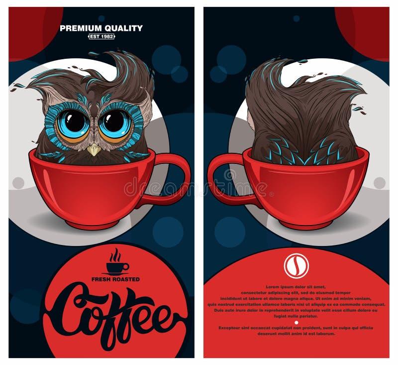 咖啡包裹 皇族释放例证
