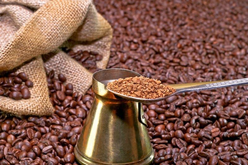 咖啡即时 免版税库存照片