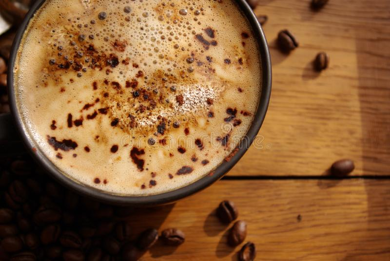 咖啡和咖啡豆 免版税库存图片