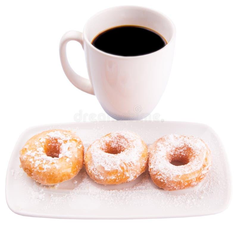 咖啡和多福饼II 库存照片