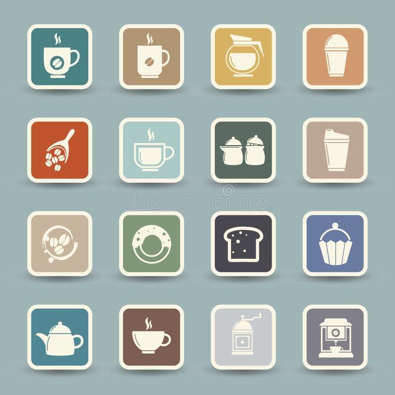 咖啡和茶象 库存例证