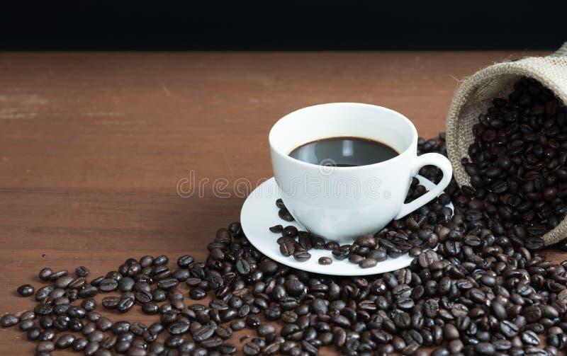咖啡和豆 免版税库存图片