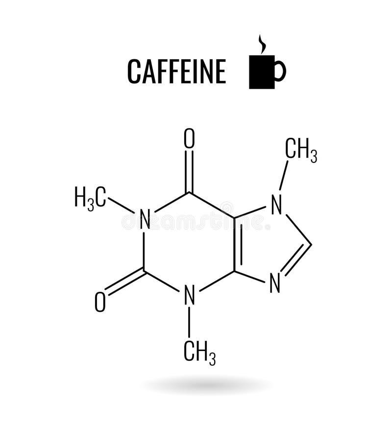 咖啡因有机分子化学例证 皇族释放例证