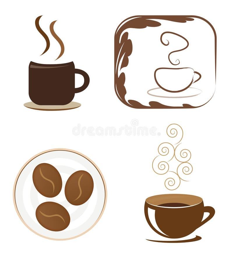 咖啡图标集 库存例证
