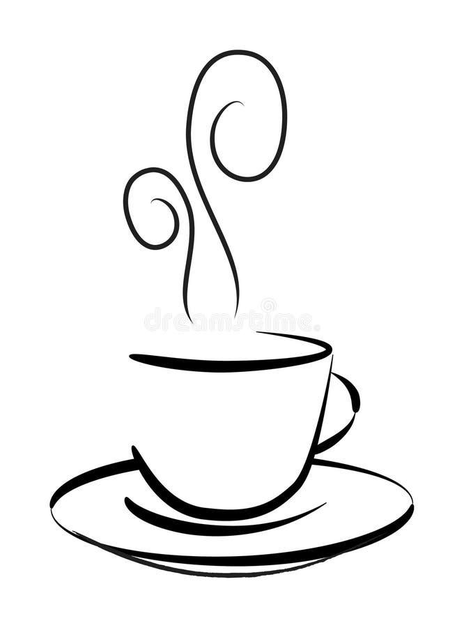 咖啡图画杯子向量 向量例证