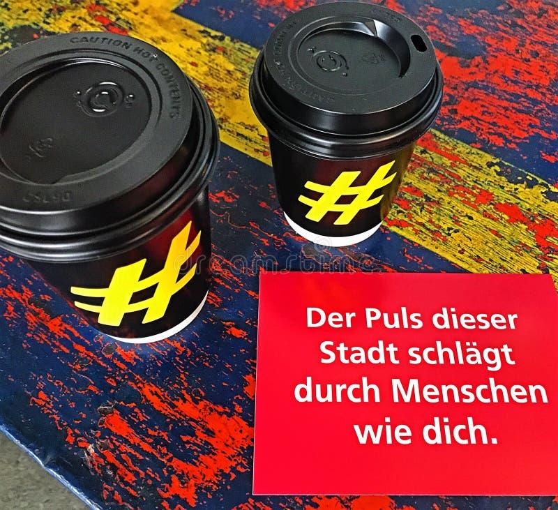 咖啡在柏林 免版税库存图片