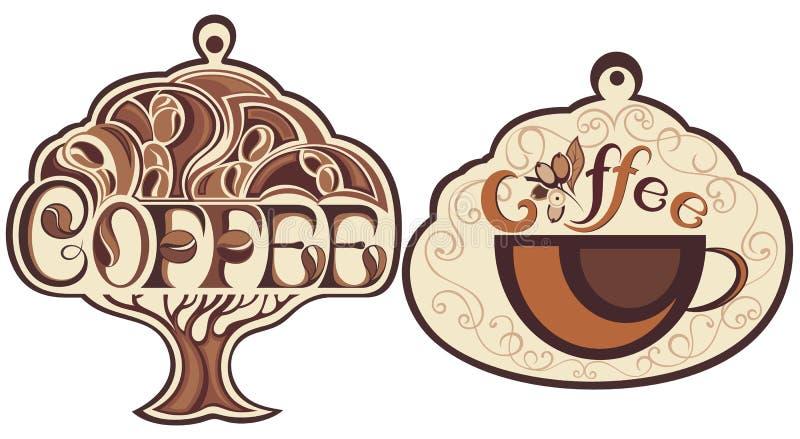 咖啡在白色的icos 皇族释放例证