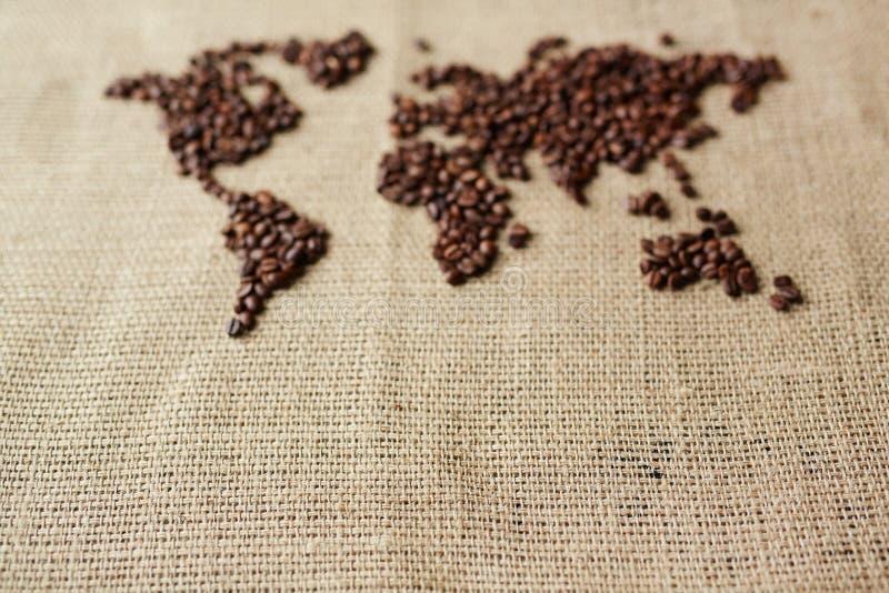 咖啡地图 图库摄影