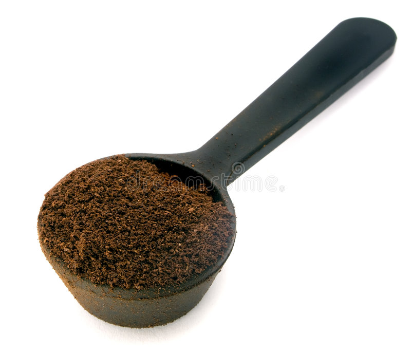 咖啡塑料匙子 库存照片