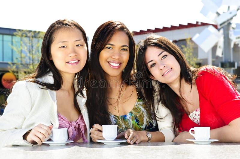 咖啡女朋友编组有 免版税库存照片